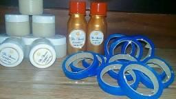 - Parafina fixadora - Fita Decorlux para bronzeamento  - Óleo acelerador