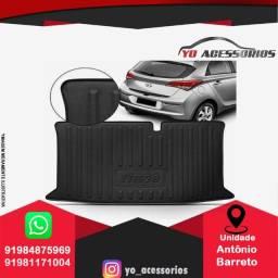 Tapete Porta Malas Bandeja HB20 Hatch Sedan hb20x 2012 a 2020 P com Bordas de Segurança
