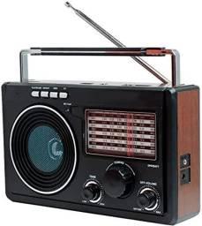 Rádio  retro Ms-686bt Recarregável Com Bluetooth