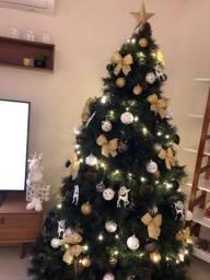 Arvore de Natal com todos enfeites 2,20m (a)