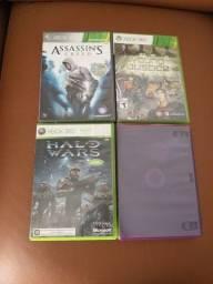 Jogos Xbox 360 originais.