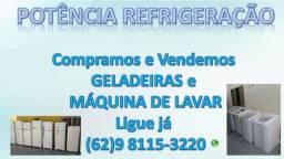 Compra e venda de geladeira e maquina de lavar