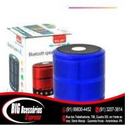 COD:0187 Caixa De Som Portátil Usb Mp3 P2 Fm Sd Mini Bluetooth Nova