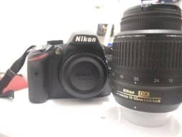 Camera Nikon D3200 + lente 18-55mm + flash yongnuo