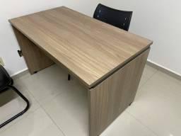 Conjunto Armário Mesa madeira escritório Pandin