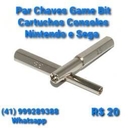 Par Chaves Game Bit Cartuchos Consoles Nintendo e Sega