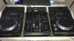 Kit cdj + mixer 350 pioneer