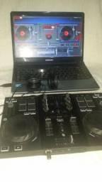 KIT profissional para DJ notebook controladora e fone