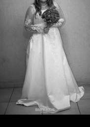 Vestido de noiva Muito lindo , Completo 1.200