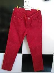 Calça vermelha/rosa