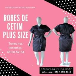 Robe de Cetim Feminino Roupão Plus Size Tamanho Especiais Casamento