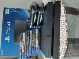 Playstations 4 + 2 controles + 9 jogos (somente venda)