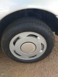 Rodas orbital 14 com os pneus semi novos