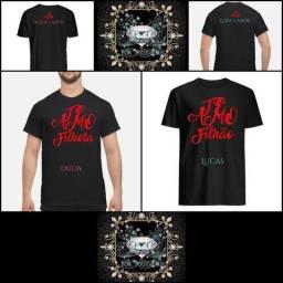 Camisetas Te amo: Filhão, Filhota família, crianças, casal IS For You Presente Natal