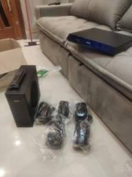 Home theater com Blu-ray 3D Phillips, 770w RMS! Som muito bom!!!