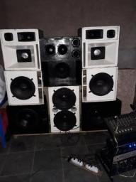Vendo equipamentos de som compreto
