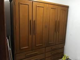 Armário de madeira maciça 2 portas