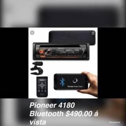 CD PIONEER 4180 TOP COM BLUETOOTH $450.00 á vista
