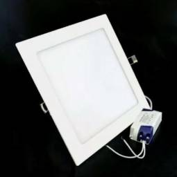Painel Plafon Luminaria Led Embutir Quadrado Slim 12w