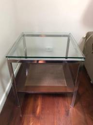 Mesa lateral em vidro 10mm