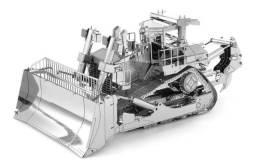 Quebra-cabeça Modelo Decorativo De Metal 3d Trator Escavadeira