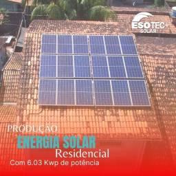 Sistema fotovoltaico, energia solar sustentável
