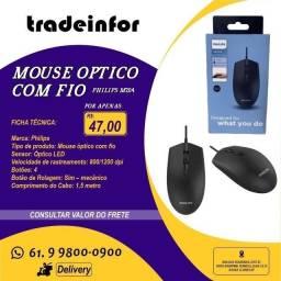 Mouse Com Fio Philips - M204 (Atendemos por Delivery)