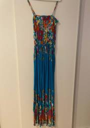 Vestido Florido Longo Zara TRF Collection - Tamanho M