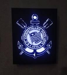 Quadro do Corinthians com LED