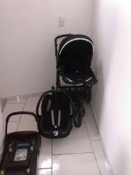Carrinho em bom estado com bebê conforto