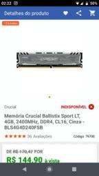Vendo memória RAM DDR4 2x8Gb