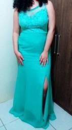 Vestido verde de festa l.i.n.d.o
