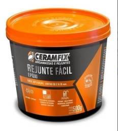 Kit - 07 Potes de Rejunte  Ceramix  EPÓXI - Pote 500G - Cor Platina