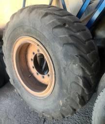 Pneu Retroescavadeira com a roda Montado estepe 17,5x24 1400 17,5x25