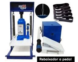 Maquina de fazer chinelo Hidráulica com kit de 11 facas