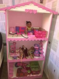 Casa mais lote de brinquedos