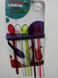 Título do anúncio: Kit com 5 colheres de cristal