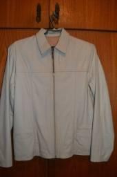 Jaqueta de Couro feminina clara