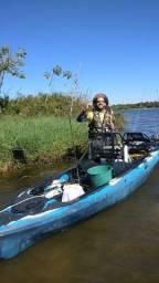 Caiaque Caiman 135 duos Hidro2eko Pesca C/ Leme Camuflado Azul