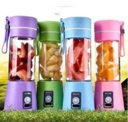 Mini Liquidificador Portatil Shake Juice Recarregável com 4 Laminas