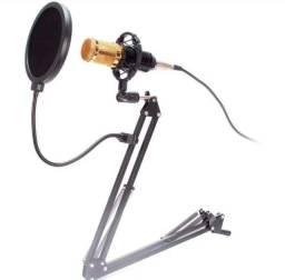 Kit Microfone Condensador Knup BM-800
