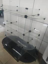 Frigobar e expositor de vidro