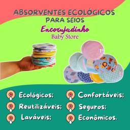 Absorventes Ecológicos para seios - Amamentação