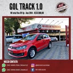 VW - VolksWagen Gol TRACK 1.0 Mi Total Flex 8V 4p 2014 Flex