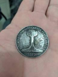 Medalhão antigo de prata pura 25g