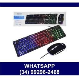 - Kit Teclado + Mouse Gamer c/ Led Ecooda 8037* Fazemos Entregas