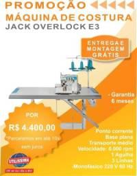 Máquina De Costura Industrial Overlock Ponto Cadeia E3 Jack