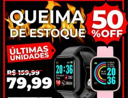 Relógio inteligente smartwatch d20 bluetooth monitor saúde