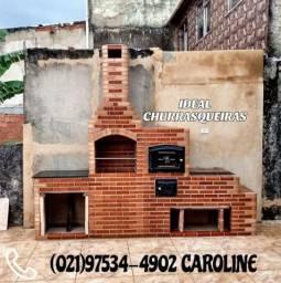 Churrasqueira e telhado Colonial / A partir de$1000 em dinheiro