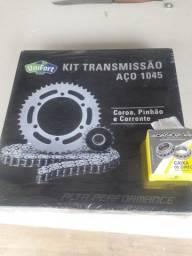 Kit transmissão aço 1045  Bros 2015